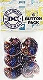 Button set DC Comics Justice League True Romance Superman Burst 6 Individual Loose Buttons