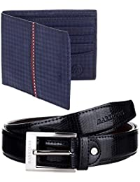 MarkQues Men's Wallet And Belt Combo (DS-2205 CL-01)