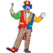 Mens Clown On The Town Costume Blue/Red One Size