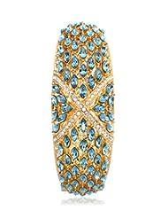 Eclat Brass Gold Plated Bracelet For Women New Fashion Jewelry (113005GRAQ)