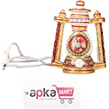 APKAMART Handcrafted Marble Lalten - 6 Inch - Traditional Lantern Showpiece And Utility Article For Table Decor...