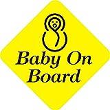 SamritikaVentures Baby On Board, Bold Letter, Windows, Car Stickers (BUY 2 GET 1 FREE)