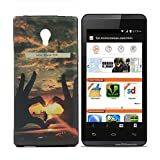 Exclusive Rubberised Designer Printed Back Case Cover For Micromax Canvas Fire 4G Q411-Hand Heart