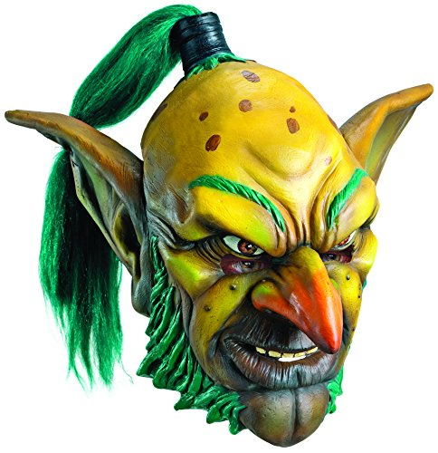 Rubie's Costume Co Men's World Of Warcraft Goblin Deluxe Overhead Latex Mask, Multi, One Size