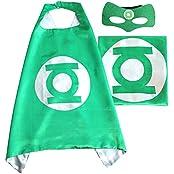 Green Lantern ROXX Superhero Superman Kids Girl And Boy Cape And Mask Costume For Child