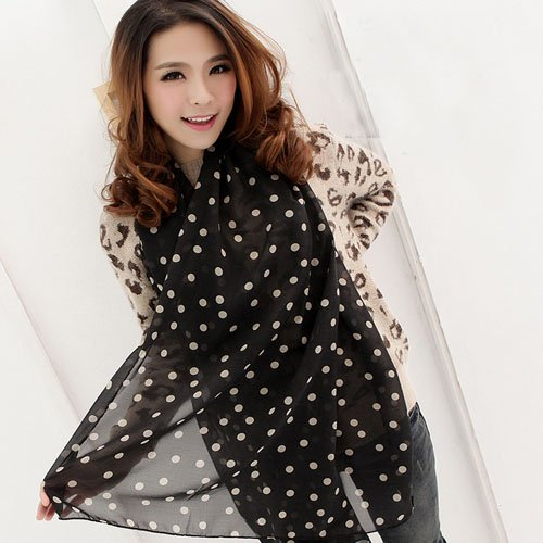 Charming Beautiful Polka Dot Scarf Wrap Women Lady Girl Shawl