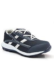 Castel Men's Grey White Mesh Eva Resin Sports Shoes