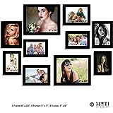 "10 Pc Black Photo Frame Wall Collage, 2Pc 8"" X 10"", 4Pc 5"" X 7"", 4Pc 4"" X 6"""