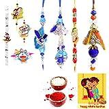 Gomati Ethnic Handmade Designer Exclusive 8 Pc Family Rakhi Set Rakhi Gifts For Brother Free Shipping+Roli+Chawal+Greeting Card !! 2Bb4Ks1095