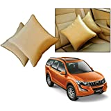 Car Vastra Cushion Pillow Set Beige Color For Car & Home For - Mahindra XUV 500-2015
