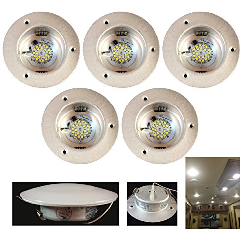 5 Pack of NEW 4.5″ LED 480 LUMEN RECESSED INTERIOR / CEILING LIGHTS FOR RVs AUTO BOATS 12V