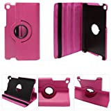 DMG Full 360 Rotating Stand Cover Case For ASUS Google Nexus 7 2013 Editionand DMG Wristband (Magenta)