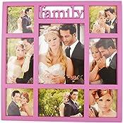 Shine Plastic Family Photo Frame (38 Cm X 38 Cm X 38 Cm, Pink)