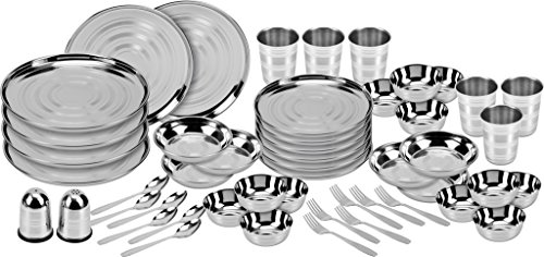 Apricot Stainless Steel Dinner Set Of 50 Pcs