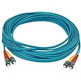 Monoprice 106414 10-Meters ST/ST Multi Mode Duplex 10GB Fiber Optic Cable - Aqua