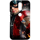 Fancy Interio Motorola Moto G4/ Moto G4 Plus - Captain America With Shield And Face Of Iron Man Reflecting On...