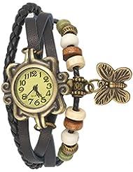 Aaradhya Fashion Black Butterfly Bracelet Woman Watch