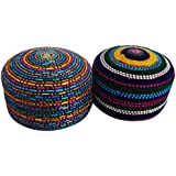 Handmade Boxes Set Of 2 Pcs Home Decor Round Pill Boxes Decorative Gift For Her Jewellery Boxes