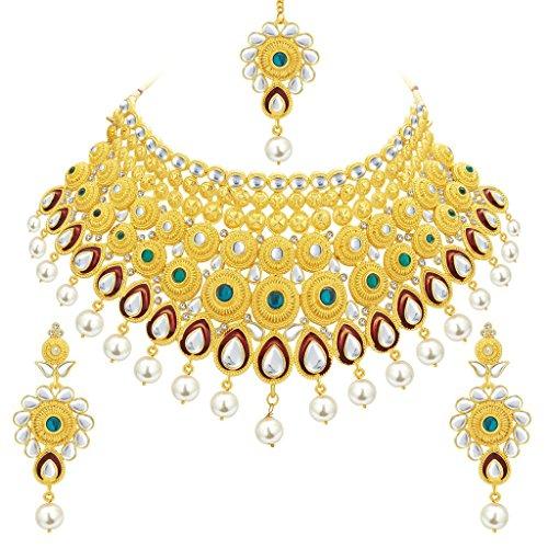 Sukkhi Exotic Gold Plated Kundan Necklace Set For Women