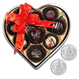 Chocholik Belgium Chocolate Gifts - Rich And Delicious Choco-treats With 5gm X 2 Pure Silver Coins - Gifts For...