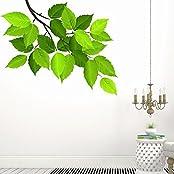 DeStudio Leaf Branch, Multi Color, Wall Stickers (Wall Covering Area : 90cm X 70cm)-12437