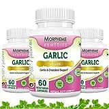 Morpheme Garlic 500mg Extract - 60 Veg Caps - 3 Bottles