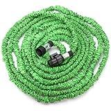 Generic 26 50 75 100FT Green Flexible Garden Car Water Hose EU/US Standard-size50