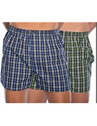 VD Sales, Set Of 2 -Men's Premium Quality MultiColor Checkered Cotton Boxer. Size - XXL