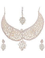 Nimble Golden Metal Choker Necklace Set For Women - B00XVML9YA