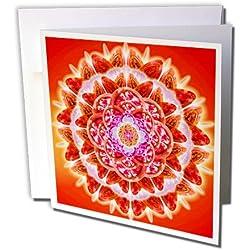 3dRose Set of 12 Greeting Cards, Root chakra (gc_193591_2)