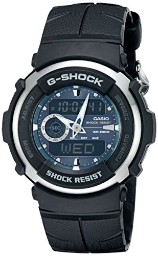 Casio Men's G300-3AV G-Shock Analog-Digital Black Street Rider Watch