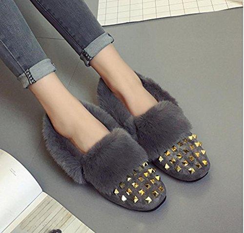 Neue Winter Schneeschuhe weiblichen Baumwolle gepolsterte Schuhe warme Schuhe koreanische Version von Nieten