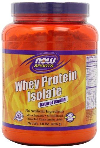 NOW Foods Whey Protein Isolate Vanilla, 1.8 LB