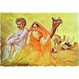 "Dolls Of India ""Reshma Shera"" Reprint On Paper - Unframed (64.77 X 44.45 Centimeters)"