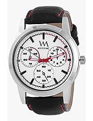 Watch Me White Men Genuine Leather Swiss Wrist Watch Watch Me-0016-Whitex