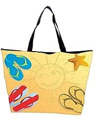 Snoogg Beach Abstract Vector Waterproof Bag Made Of High Strength Nylon