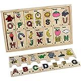 Spanish ABC Wooden Alphabet Puzzle Blocks