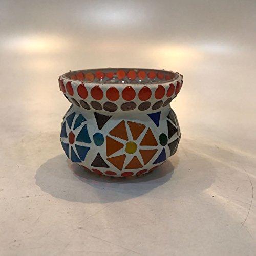 Dlite Crafts Multicolor Polka Design Home Decorative Votive Candle Holder, Set Of 2 PCs