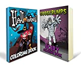 Halloween Coloring Pages Bundle Includes Scary and Goosebumps Coloring Books with 150+ Fun Pages