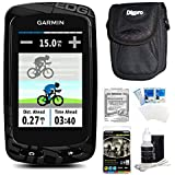 Garmin Edge 810 Cycling Computer GPS Device With Case And Warranty Bundle - Includes GPS Ultra-Compact Carrying...