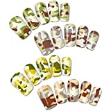 Camouflage Patterns Water Nail Tattoo Transfers, Set Of 4