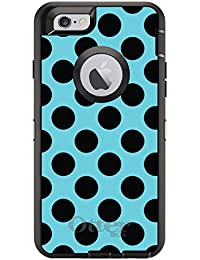 CUSTOM Black OtterBox Defender Series Case For Apple IPhone 6 Plus 6S Plus 5.5 Model - White Red Polka Dots B - B00VMSDWNG