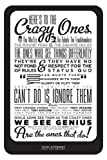 "Seven Rays 'Steve Jobs Think Different' Poster (12"" X 18"")"