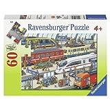 Ravensburger Railway Station Puzzle, Multi Color (60 Pieces)