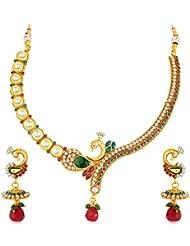 Sukkhi - Kritika Kamra Mayur Gold Plated Kundan Necklace Set