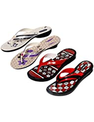 Krocs Super Comfortable Combo Pack Of 2 Pair Flip Flop With 2 Pair Slippers For Women (Pack Of 4 Pair) - B01JS6T796