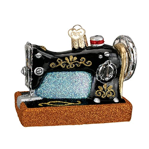 Old World Christmas Sewing Machine Glass Blown Ornament