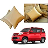 Car Vastra Cushion Pillow Set Beige Color For Car & Home For - Mahindra TUV 300