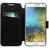 Armor Samsung Galaxy E5 Case Cover : Armor Slim Leather Wallet Book Case Flip Cover For Samsung Galaxy E5 (Black)