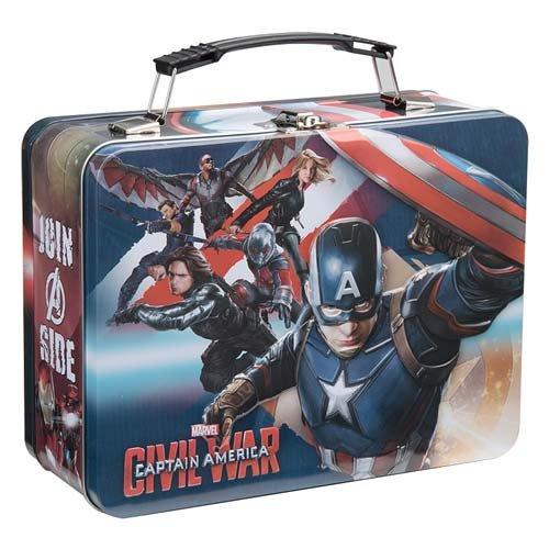 Vandor Marvel Captain America Civil War Tin Tote, Multicolored, Large